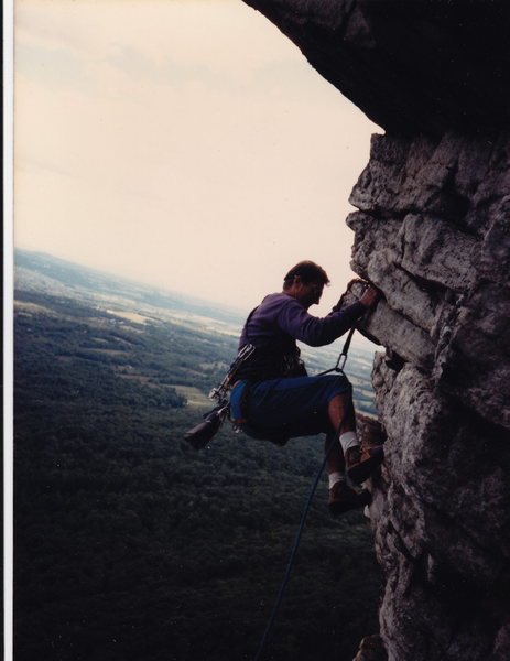 Greg Padley (anyone know him? lost touch...)<br> on the last pitch in the 80's.  Sure seemed worth it when we did it.  Probably easier to rap right before this though...