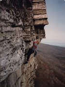 Rock Climbing Photo: the late great Roger Marshall in the mid 80's