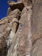 Tugging Emily (5 yrs old) up the Duchess, Joshua Tree over Thanksgiving break