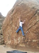 Rock Climbing Photo: A V6/7 at Unaweep Canyon, CO