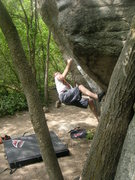 Rock Climbing Photo: Lance's Dihedral, V6, Copperhead Boulder, Little C...
