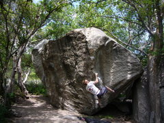 Rock Climbing Photo: Another picture of Lance's Dihedral, V6, Copperhea...