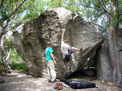 Rock Climbing Photo: A picture of Lance's Dihedral, V6, Copperhead Boul...