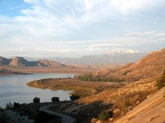 Rock Climbing Photo: Lake Perris and surroundings from the Main Slab, B...