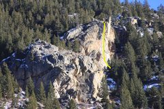 Rock Climbing Photo: Georgetown Buttress showing Dirty Pool.