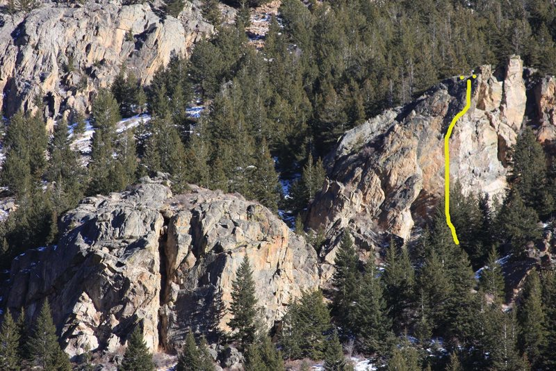 Another view of Georgetown Buttress, Presently only one route exists on the crag.