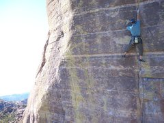 Rock Climbing Photo: David Merin on the first redpoint of this climb us...