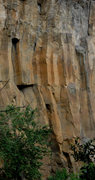 Rock Climbing Photo: A shot of the tops of (L to R) No Feelings, Kindne...