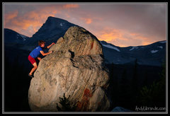 Rock Climbing Photo: Beautiful sunset over the Indian Peaks. Alpenglow ...