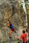 Rock Climbing Photo: Rambo on Treetop Flyer. 8/23/09.