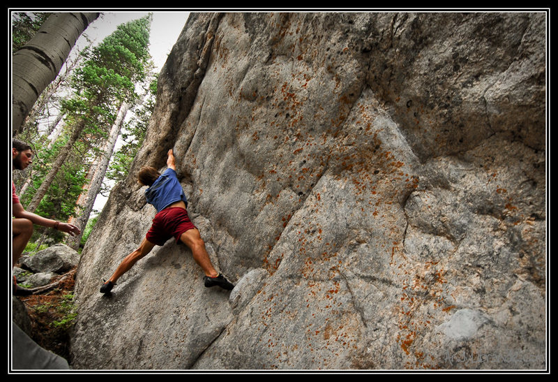 Rock Climbing Photo: Rambo working on Treetop Flyer and getting into th...