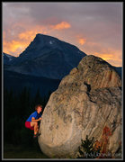 Rock Climbing Photo: Rambo sending the prow problem 15 minutes before s...