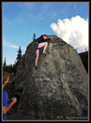 Rock Climbing Photo: Brea on one of the warm-up problems.