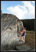 Rock Climbing Photo: Another easier problem on the backside of the Alpe...