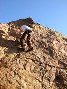 Rock Climbing Photo: Climbing the 5.6