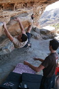 Rock Climbing Photo: Lizard Mouth Trav
