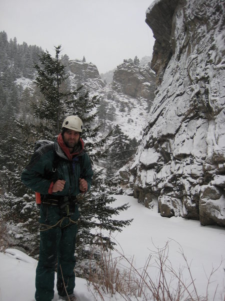 Rock Climbing Photo: Self portrait, after day 2, finishing the FA of &q...