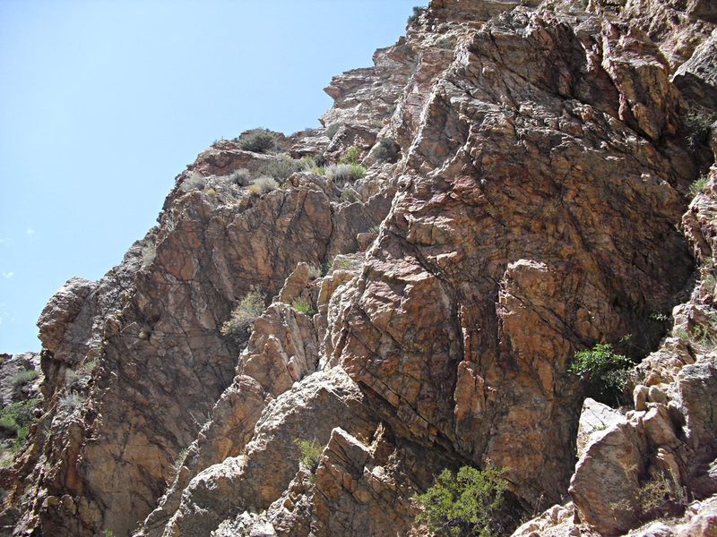 Rock Climbing Photo: Dork Dot Rock (on the right) with the Dionysius Th...