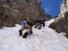 Rock Climbing Photo: Just below an ice step