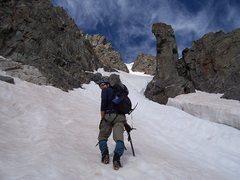 Rock Climbing Photo: Heading into the maw