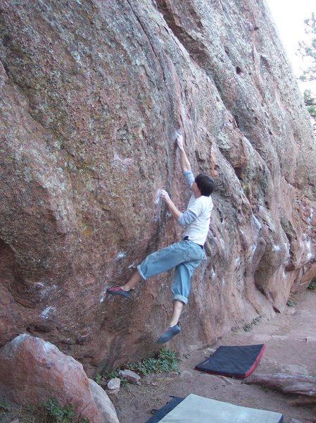 Rock Climbing Photo: Ben Caraher sticking the rail.