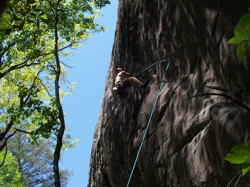 Dale King on Out Of the Blue and Into The Blank 5-12c Big Green mtn.
