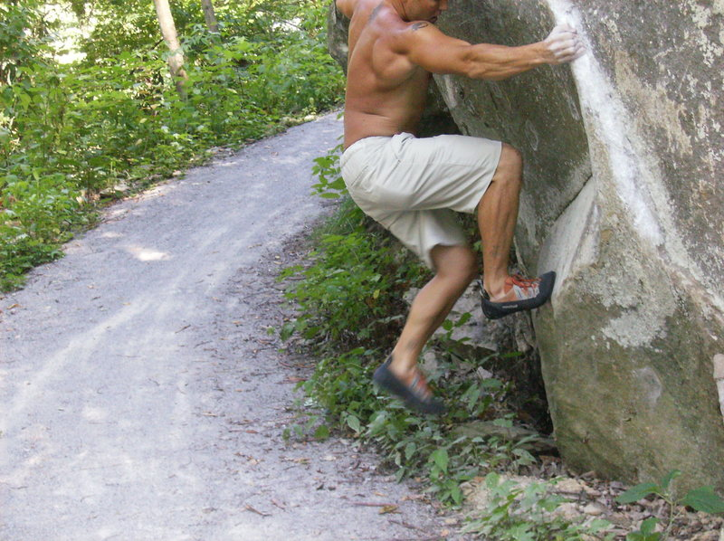 Bouldering in Knoxville TN. V-5 Transformers.