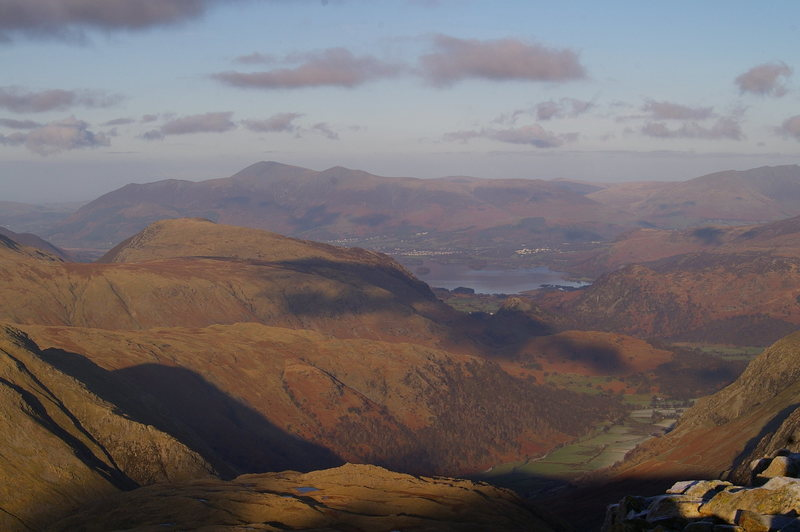 Looking down Borrowdale from Great End. Photo Ron Kenyon