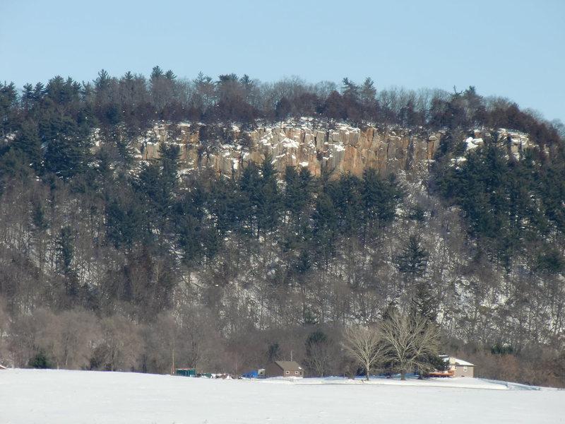 Rock Climbing Photo: Winter @ Gibralter