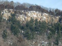 Rock Climbing Photo: Gibralter's Winter Face