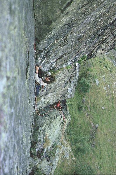 Rock Climbing Photo: Bill Birkett on the final pitch of Route 1.1974