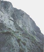 Rock Climbing Photo: Al Manson taking flight from the crux.
