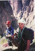 Rock Climbing Photo: Chris Bonington and Terry Burnell on the first asc...