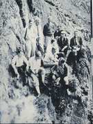 Rock Climbing Photo: Historic Photo. About 1960 .Below Gimmer Crag. A v...