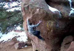 Rock Climbing Photo: M.Z. moving through the bottom section.