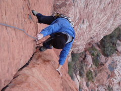 Rock Climbing Photo: 2nd pitch of Physical Graffitti,   Always a fun cl...