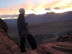 Rock Climbing Photo: Just in time to catch a great sunset over the scen...