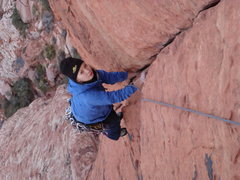 Rock Climbing Photo: Working the 2nd pitch of Physical grafitti
