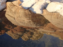 Rock Climbing Photo: Reflections made possible from an early snow in Re...
