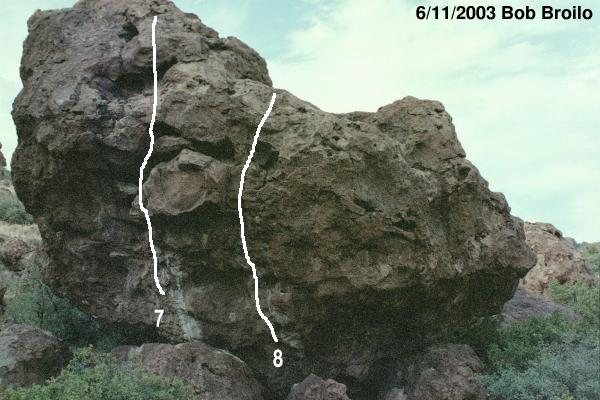 Rock Climbing Photo: Colon Blow boulder, West face 7 - Colon Blow 8 - S...
