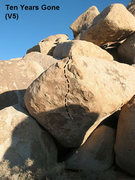 Rock Climbing Photo: Ten Years Gone (V5), Joshua Tree NP