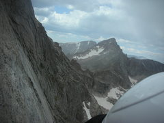 Rock Climbing Photo: Distant peak in center of pic behind McHenry's sho...