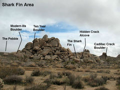 Rock Climbing Photo: Overview for the Shark Fin Area, Joshua Tree NP