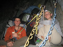 Rock Climbing Photo: FOOD!!! top of p15 Licking Fur