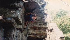 """Rock Climbing Photo: at the """"secret"""" move... shhhhhhh"""