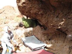 Rock Climbing Photo: Paco on Ape Escape.