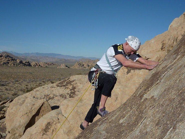 Rock Climbing Photo: Fred climbing Eva (c) Scott Nomi.