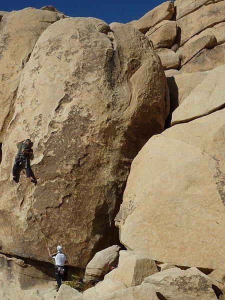 Chris working through the steep bit (c) Scott Nomi.