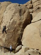 Rock Climbing Photo: Chris working through the steep bit (c) Scott Nomi...