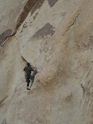 Rock Climbing Photo: Chris heading up to the 2nd bolt (c) Scott Nomi.